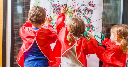 Big art activities for little learners